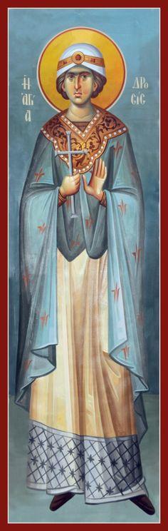 Drosis the martyr of Antioch / Αγία Δροσίς Byzantine Icons, Byzantine Art, Orthodox Icons, Religious Art, Holy Spirit, Christianity, Catholic, Saints, Religion