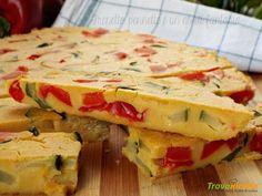 Frittata con farina di ceci e verdure cotta al forno #ricette #food #recipes