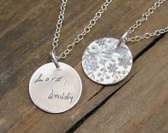 Personalized Necklace - ACTUAL Handwriting Jewelry -  Memorial
