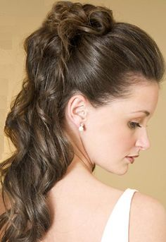 www.viphairstyles.com  Classic romantic updo hairstyle with flowing waves.