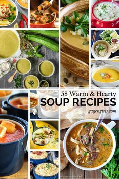 Whether there is two feet of snow on the ground or you're just wanting some comfort, soup is just what you need! These hearty recipes will warm your belly! Hearty Soup Recipes, Chowder Soup, Soups And Stews, Chili, Curry, Warm, Ethnic Recipes, Girls, Food