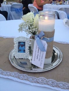 Baptism centerpieces, bautismo, shabby chic centerpieces,vintage Baptism Party Centerpieces, Girl Baptism Decorations, Centerpiece Ideas, First Communion Decorations, Decoration Communion, Communion Centerpieces, Baptism Ideas, Boy Baptism Party, Christening Party