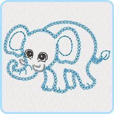 Outline Zoo - Free machine embroidery designs - Kreative Kiwi