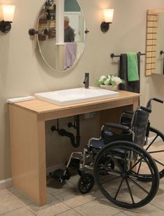 Make a Home Welcoming, Safe & Accessible for Everyone. Consider Wall Mount Sinks, Walk-in Tubs & Other Products for Aging in Place, Universal Design & ADA Compliance. Entryway Wall Decor, Wet Rooms, Handicap Bathroom, Home, Cool Rooms, Bathroom Gadgets, Bathrooms Remodel, Bathroom Design, Accessible House