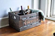 Wedding Wine Crate Personalized Gift Kit - Wine Gift Ideas - Wine Lovers - Housewarming Gift - Wedding Gift Ideas - Personalized Crate - Rustic Wooden Crate