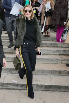 Olivia Palermo leaves the Elie Saab 2016 Fashion Show Estilo Olivia Palermo, Olivia Palermo Lookbook, Olivia Palermo Style, Girl Fashion, Fashion Show, Paris Fashion, Street Looks, Love Her Style, Mode Outfits