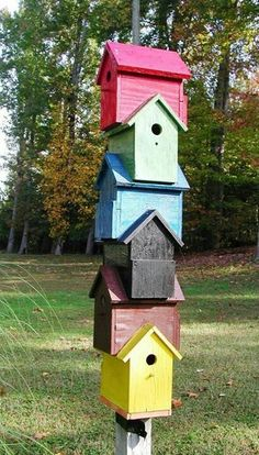 bird house totem...