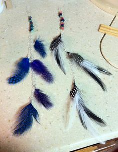 Beaded Feather Hair charms