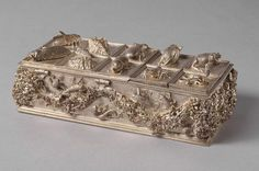 JAMNITZER, Wenzel Inkstand, 1560s Silver, 23 x 10 x 6 cm Kunsthistorisches Museum, Vienna  Caskets containing writing utensils had already been mentioned in mediaeval inventories. In the Renaissance writing sets were abundantly.