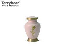 Terrybear Aria Rose Keepsake. This Keepsake can hold a small amount of cremated remains.