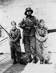 Italian Soldier With Young Volunteers in the Ethiopia Campaign, pin by Paolo Marzioli
