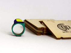 3in1 Wooden Stacking Ring Woodsy Swoosh Mood by WoodsyS on Etsy