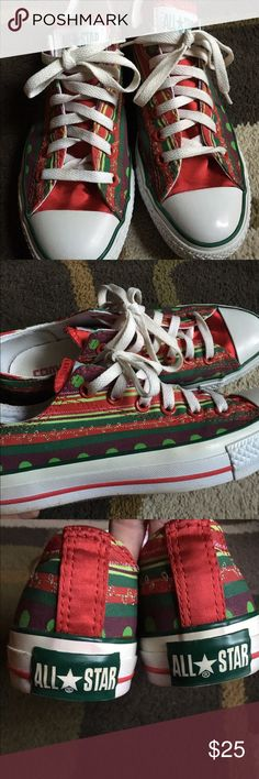 Converse All Star sneakers ❤️ Unique red and green design❤️excellent condition❤️ Converse Shoes Sneakers