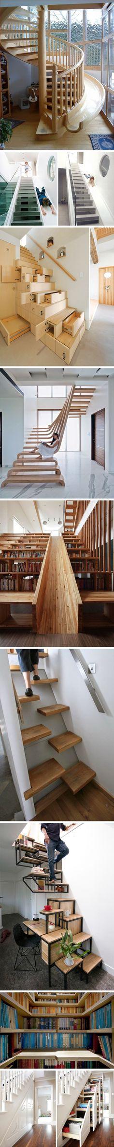 Yaratıcı ve Kullanışlı 10 Merdiven Tasarımı www.4finite.com