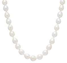 14K Yellow Gold Baroque White South Sea Pearl Necklace