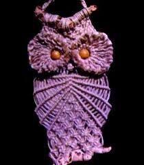 Purple macrame owl