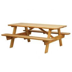 #Amish Pine #Picnic #Table with Built-in Seats