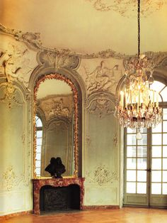 Oval salon on the ground floor Hotel de Soubise, designed by German Bouffrand 1730. Book: French Interiors of the 18th century by John Whitehead.