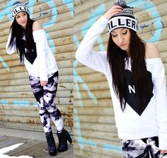 Silent smoke (by Rebekah Wing) http://lookbook.nu/look/4523469-Silent-smoke  http://store.lovelysally.com/collections/leggings/products/silent-smoke
