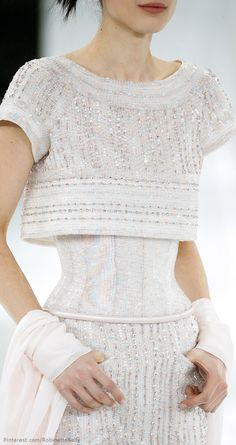 Chanel Haute Couture | S/S 2014 Adorable & with coverage to hide any flaw a woman may have!