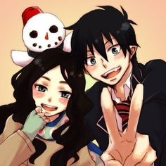 Blue Exorcist---Rin and his mother..