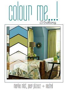 Colour Me...!: CMCC#24 - Colour Me... Striking! (Olive, Twilight & White Daisy)