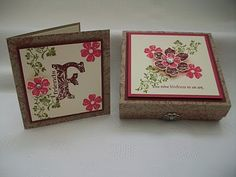 Stampin' Up' s Vintage Vogue stamp set.  By Jenny Moors