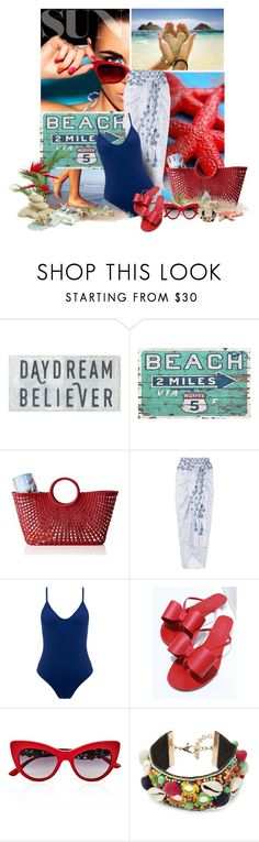 """""""Dreaming of The Beach....."""" by sherry7411 ❤ liked on Polyvore featuring Mark & Graham, Monsoon, Bower, Aminah Abdul Jillil, Dolce&Gabbana and Design Lab"""