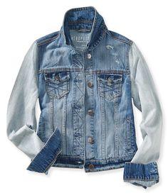 Aeropostale Womens Classic Cropped Denim Vest, Blue, X-Large