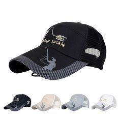 737b256e0ce Unisex Men Women Adjustable Fishing Cap Snapback Sports Hat Sun Visor  Black