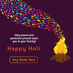 Holi is a festival that shows us the triumph of good over evil and it shows us that the truth always prevails. You can also edit your Inspiring Happy Holi 2021 Quotes in English with name for free at our website and share it on your social media. In order to create your own inspirational Holi messages Quotes in English with name, you just have to choose an inspirational Holi image of your choice and add your name in the given box. Once you customize your inspirational Holi 2021 messages in… Holi Messages In English, Holi Wishes In English, Holi Quotes In English, Holi Wishes In Hindi, Holi Wishes Images, Happy Diwali Images, Happy Holi Greetings, Happy Holi Wishes, Happy Holi In Advance