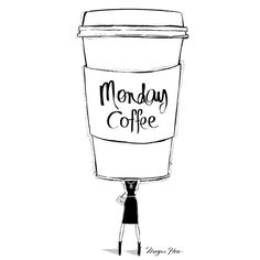 Megan Hess. A yawn is a silent SCREAM for Coffee!!