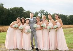 The girls and the groom