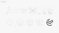 Golden ratio #logotype #logos #icons #symbol #golden ratio #logo construction #gird #logo process #brand mark #logo gird in Identity