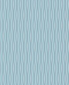 blue wavy wall paper feature wall