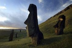 Easter Island  This island lies between Tahiti and Chile, and gained international popularity because of remarkable colossal statues shaped the human face. Each statue is 14 feet tall (about 4 meters), weighed 75 tonnes, made of volcanic stone, and represents the work of Rapa Nui society. Until now, It's unknown how the statue was made by primitive technology owned by the society. There are various theories about the origin of the statue and its meaning, including one of them is fantastic…