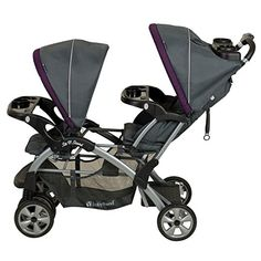 Amazon.com : Baby Trend Sit N Stand Double, Carbon : Tandem Strollers : Baby