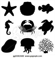 animals black and white clipart - Google Search