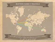 Free printable World Travel Map