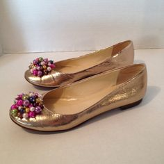 Kate Spade pearl gold flats Beautiful flats perfect for any occasion more info and pictures available kate spade Shoes Flats & Loafers