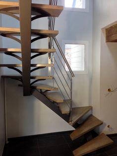 Escalier métallique contemporain - Art Métal Concept Quimper Stair Case, Decoration, Stairs, Design, Home Decor, Art, Woodworking, Rustic, Contemporary