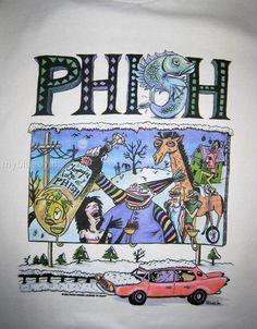 Phish T Shirt ...  1993 New Years Eve ... Jim by GratefulDesign, $26.99