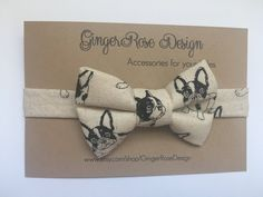 A personal favorite from my Etsy shop https://www.etsy.com/listing/551455579/french-bulldog-bow-tie-frenchie-bow-tie