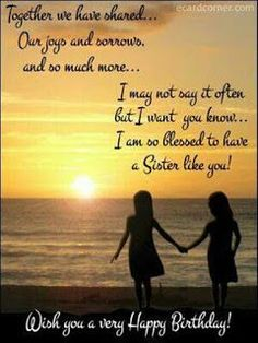 90 Happy Birthday Sister Quotes, Funny Wishes, Cake Images Collection Happy Birthday Wishes Friendship, Birthday Messages For Sister, Happy Birthday Wishes Sister, Message For Sister, Birthday Wishes Quotes, Happy Bday Sister Quotes, Sister Prayer, Sister Messages, Happy Birthdays