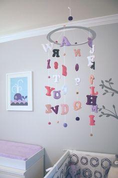 Móbile de alfabeto para o quarto das crianças - Dicas pra Mamãe