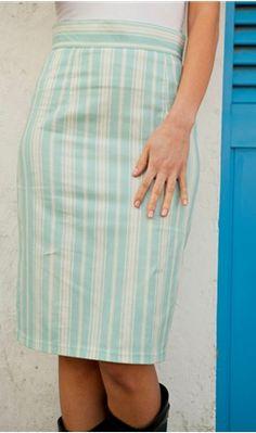 Aqua and cream skirt - Shabby Apple - $41.60