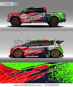 Car Decal Vector Graphic Abstract Racing Designs For Vehicle