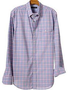 Soft-wash slim fit multi-check shirt | Banana Republic