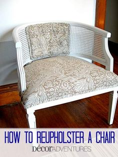 In love chairs and chevron on pinterest for How to reupholster furniture diy