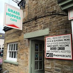 Check out the Grasshopper Café Hope - formerly the Woodbine. Peak District, Cyclists, Check, Cafes